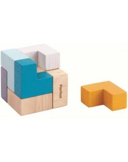 Деревянная игрушка Plan Toys 3D пазл кубик (4134)