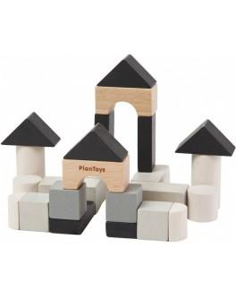 Деревянный конструктор кубики Plan Toys 24 детали (4129)