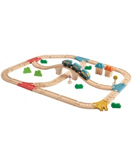 Деревянная игрушка Plan Toys Железная дорога (6606) - plant 6606