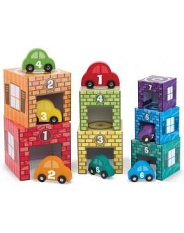 Набор блоков Автомобили и гаражи Melissa & Doug - MD12435