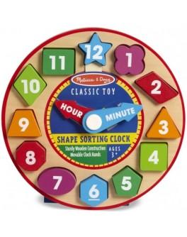 Деревянная игрушка Часы-сортировщик Melissa & Doug - MD18593