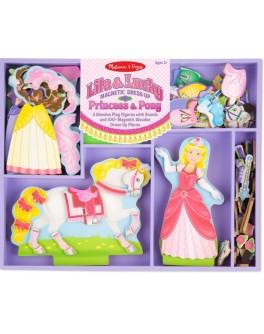 Магнитная одевалка Принцесса и лошадка Melissa & Doug - MD9281