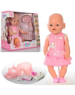 Пупс функциональный Baby Born 8009-439 в розовом платьице - mpl 8009-439