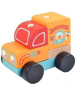 Дерев'яна машинка-конструктор Cubika Подорожуючий цирк (13166) - cub 13166