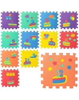 Игровой коврик пазл Цифры/Тортик (M 5732) - mpl M 5732