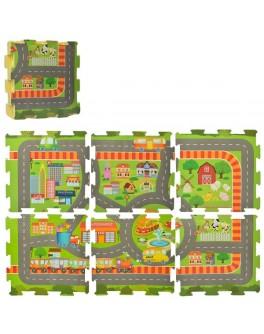 Игровой коврик пазлы Город 6 элементов (M 5800) - mpl M 5800