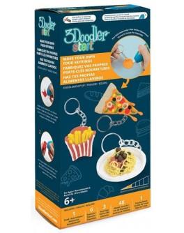 Набор аксессуаров для 3D-ручки 3Doodler Start – БИСТРО (48 стержней, шаблон, 3 кольца для брелоков, 1 трафарет)