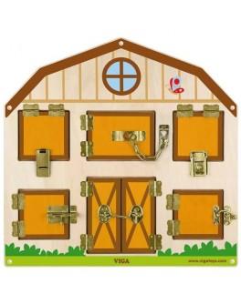 Деревянная игрушка Viga Toys бизиборд Открой замок (51627)
