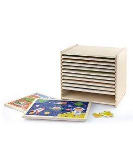 Набор пазлов из дерева Viga Toys 12 штук (51428)
