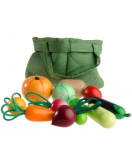 Набор игрушечных овощей из дерева - val 084