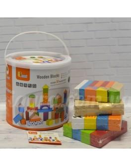 Дерев'яний конструктор кубики Viga Toys Зоопарк 50 шт (50286) - afk 50286
