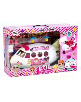 Игровой набор Самолет с куколками LOL AIRLINE PLAYSET - igs K 5625