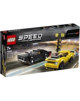 Конструктор LEGO Speed Champions Автомобили 2018 Dodge Challenger SRT Demon та 1970 Dodge Charger (75893) - bvl 75893