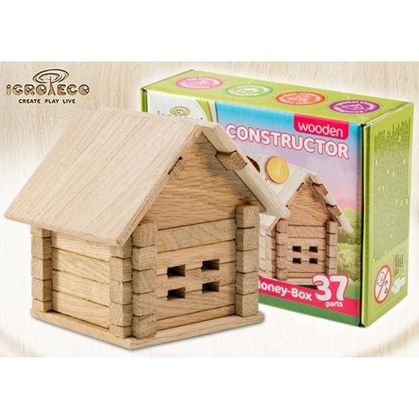 деревянный конструктор Копилка на 37 деталей от Игротеко