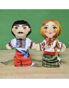 Кукольный театр Семья в вышиванках - Козак и Украинка - iqgra 00634