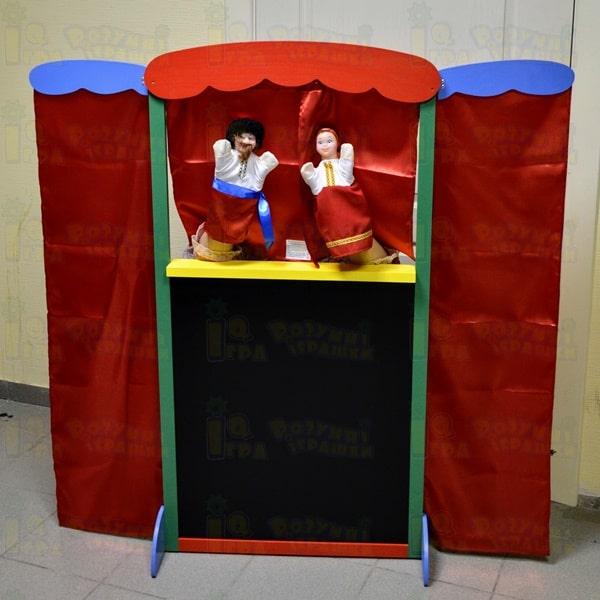 кукольная ширма напольная для домашнего кукольного театра Украина