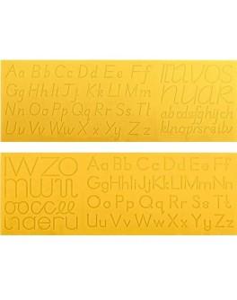 Образцы для каллиграфического письма букв тренажер раздаточный. Английский алфавит - W 19