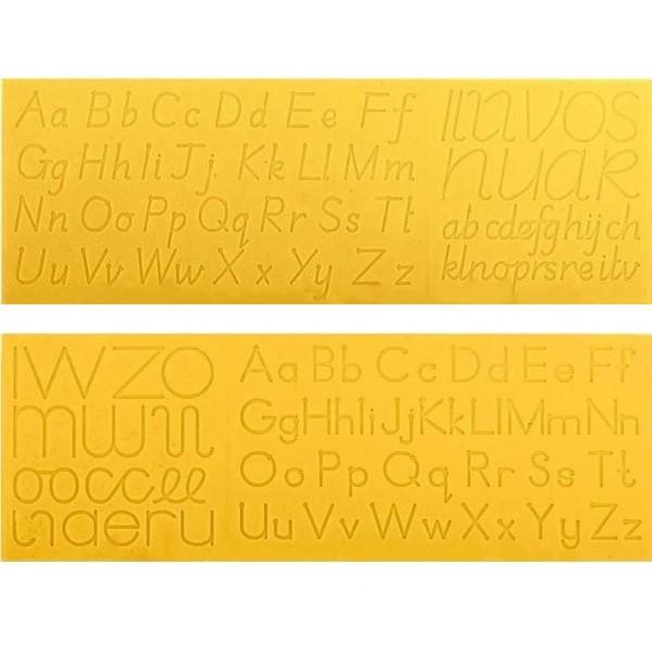 Зразки для каліграфічного письма букв тренажер роздавальний. Англійська абетка - W 19