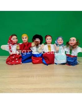 Кукольный театр Украинская семья - 6 персонажей - iqgra украинская семья