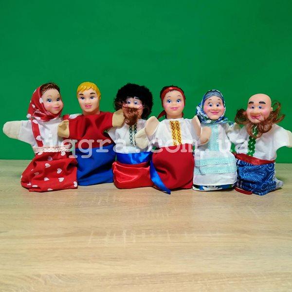 Кукольный театр Украинская семья - 6 персонажей