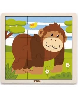 Пазл з дерева Viga Toys Мавпа (51440) - afk 51440