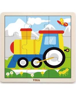 Пазл з дерева Viga Toys Паровоз (51446) - afk 51446
