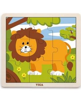 Пазл з дерева Viga Toys Лев (51442) - afk 51442