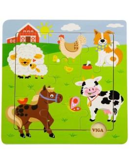 Пазл з дерева Viga Toys Ферма (50837) - afk 50837