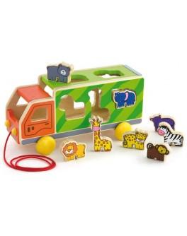 Іграшка-сортер Viga Toys Вантажівка з тваринами (50344) - afk 50344