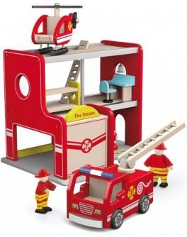 Іграшка дерев'яна Viga Toys Пожежна станція (50828) - afk 50828