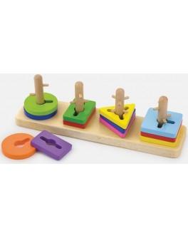 Дерев'яна головоломка Viga Toys Форма і колір (50968) - afk 50968