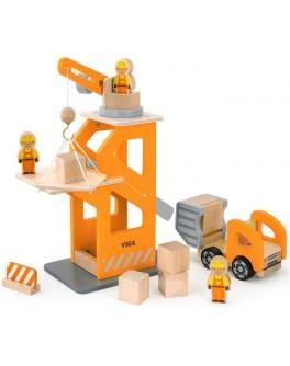 Іграшка дерев'яна Viga Toys Будівельний майданчик (51616) - afk 51616