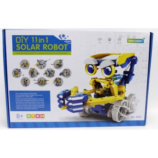 Конструктор на сонячних батареях Diy Solar Robot 11 в 1 - mpl 2045