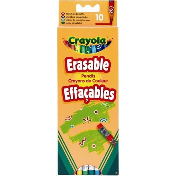 Набір Crayola кольорові олівці з гумкою, 10 шт - ves 3635