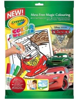 Книга-розмальовка з фломастерами Crayola Color Wonder Тачки - ves 75-0251