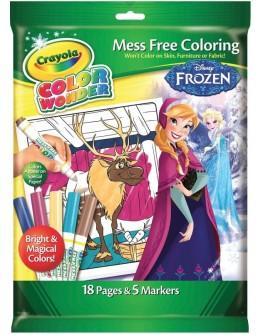Книга-розмальовка з фломастерами Crayola Color Wonder Холодне серце - ves 75-2401