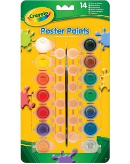 Набір для творчості Crayola фарба темпера, 14 баночок - ves 3978