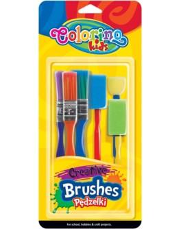 Пензлики для креативних робіт Colorino 6 шт - ves 39031