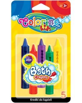 Крейди воскові Colorino для ванни 5 кольорів - ves 67300
