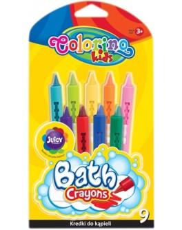 Крейди воскові Colorino для ванни 9 кольорів - ves 38973