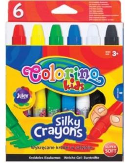 Восковые мелки Colorino супер мягкие 6 цветов