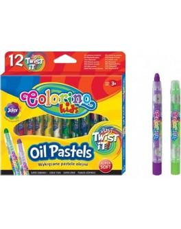 Масляна пастель Colorino з висувним стрижнем 12 кольорів - ves 64590