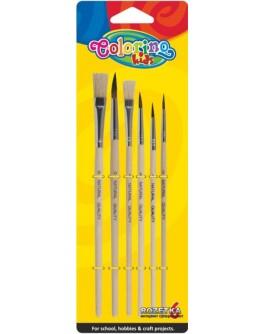 Пензлики для фарб Colorino 6 шт - ves 89415