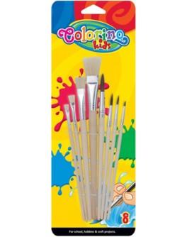 Пензлики для фарб Colorino 8 шт - ves 39000