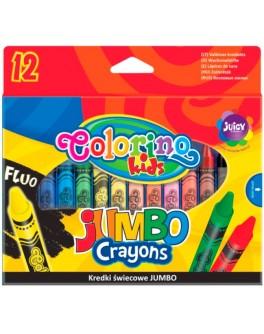 Воскова крейда Colorino Jumbo 12 кольорів - ves 32230