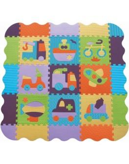 Детский коврик-пазл Baby Great Быстрый транспорт с бортиком 122х122 см (GB-M129V2Е) - SGR GB-M129V2Е