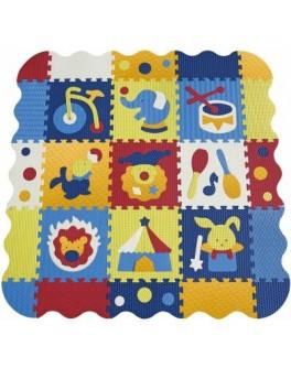 Детский коврик-пазл Baby Great Удивительный цирк с бортиком 122х122 см (GB-M129СЕ) - SGR GB-M129СЕ
