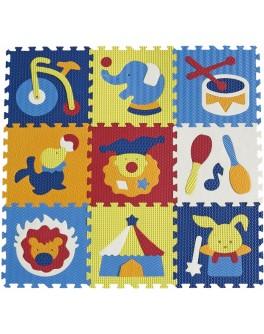 Детский коврик-пазл Baby Great Удивительный цирк 92х92 см (GB-M129С) - SGR GB-M129С