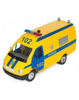 Автомодель - ГАЗЕЛЬ ПОЛИЦИЯ (желтая, свет, звук, инерц.) - KDS CT-1276-17P