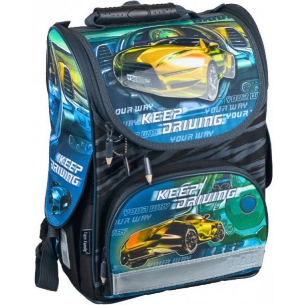 Ранец Nature Quest Collection Race Car yellow